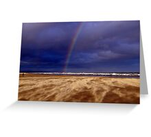 Rainbow in a Sandstorm, St Andrews II Greeting Card