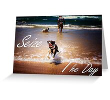 Seize The Day - Inspirational  Greeting Card