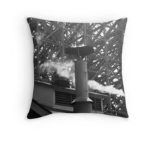 industrial - in black & white Throw Pillow