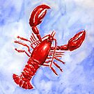 Lobster Watercolor by SBCStudio