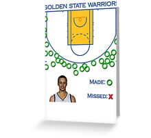Stephen Curry Shot Chart Golden State Warriors Greeting Card
