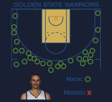 Stephen Curry Shot Chart Golden State Warriors T-Shirt