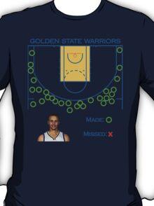 Stephen Curry Shot Chart Golden State Warriors T-Shirt