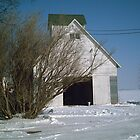Corn Crib at the Farm in Iowa  - Feb 2008 by Christopher Johnson