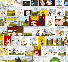 My Best Friend's A Ghost-Duck Comic Strip Collage by Tom Gant