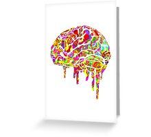 Melting Brain Greeting Card