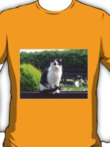 The Fence Sitter - Cat and Rose T-Shirt