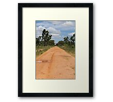 Red Earth in Zambia Framed Print