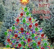 Merry Christmas - Bubble Tree by WalnutHill
