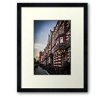 Kensington Street View at Sundown Framed Print