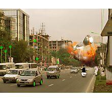 It's a full scale Intergalactic dOve Invasion of Lahore Skycity! Photographic Print