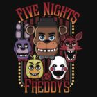 Five Nights At Freddy's Pizzeria Multi-Character by DeepFriedArt