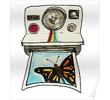 Watercolor Polaroid Camera Poster