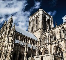 Looking Up at the York Minster by Nicole Petegorsky