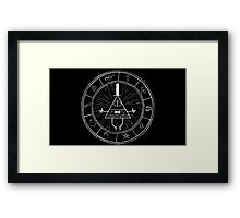 Gravity Falls Bill Cipher - White on Black Framed Print