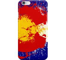 Colorado Flag Paint Splatter iPhone Case/Skin