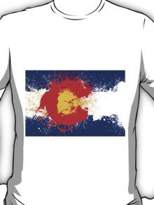Colorado Flag Paint Splatter T-Shirt