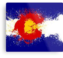 Colorado Flag Paint Splatter Metal Print