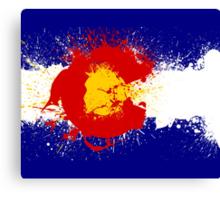 Colorado Flag Paint Splatter Canvas Print