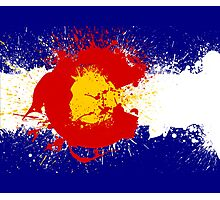 Colorado Flag Paint Splatter Photographic Print