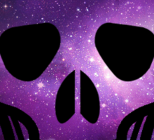 Galaxy Skull Sticker