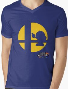 Super Smash Bros - Pac-Man Mens V-Neck T-Shirt