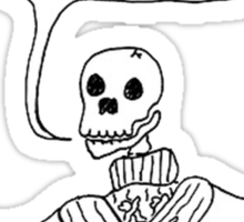 NOT ENOUGH SWEATERS; SKELETON Sticker