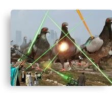Oh no! It's an Intergalactic dOve Invader Stampede! Canvas Print