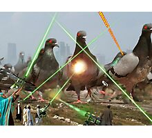 Oh no! It's an Intergalactic dOve Invader Stampede! Photographic Print