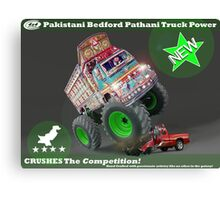 Pakistan's Newest Line-up of Rugged Hand Crafted Utility Vehicles Canvas Print