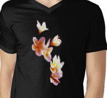 Frangipani #3 Black Vee Neck Mens V-Neck T-Shirt