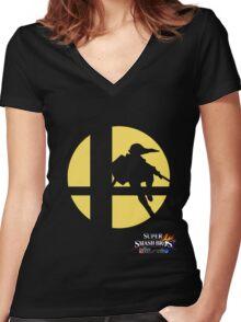 Super Smash Bros - Link Women's Fitted V-Neck T-Shirt