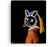 Ray Johnson with a Pearl Earring Canvas Print