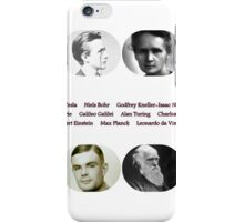 Top Ten Scientists of our time iPhone Case/Skin
