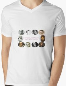 Top Ten Scientists of our time Mens V-Neck T-Shirt