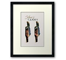"""Lost Girl - Tamsin """"Here's Tammy"""" Framed Print"""