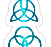 NEW DESIGN - Ancient Pagan Symbols (V) - Shiny Teal Sticker