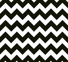 Chevron Print in Black and White by littleinfinity