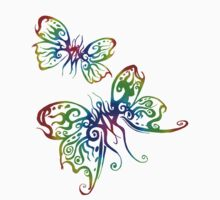 Rainbow Butterfliez by dimarie