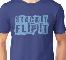 "STACK IT FLIP IT "" BLUE 11's "" Unisex T-Shirt"
