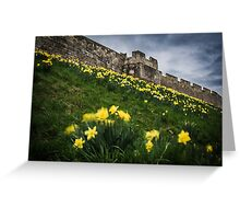 Outside York's City Walls Greeting Card