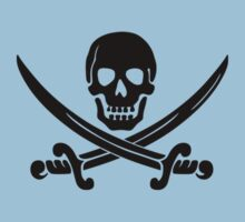 Calico Jack Pirate Flag - Black by troyw