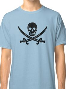Calico Jack Pirate Flag - Black Classic T-Shirt