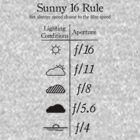 Sunny 16 Rule - Black by Alessandro Arcidiacono
