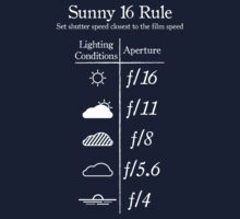 Sunny 16 Rule - White One Piece - Short Sleeve
