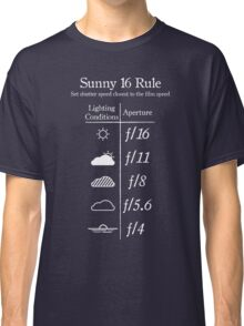 Sunny 16 Rule - White Classic T-Shirt