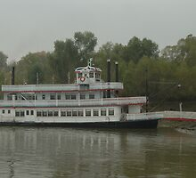 Riverboat on the Mississippi River by Jim Caldwell