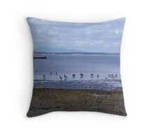 Brent Geese Throw Pillow