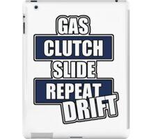 Gas clutch slide drift iPad Case/Skin