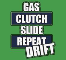 Gas clutch slide drift Kids Tee
